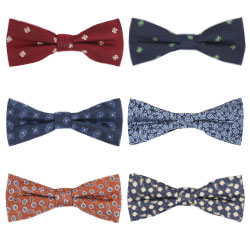 Custom wholesale Handmade 100% Silk Woven Sequin Floral Bow Ties for Men