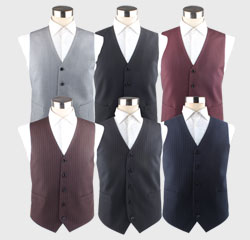 Suit Accessories Mens New Design Polyester Strip V Shaped Waistcoat Vest