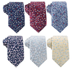 2019 OEM Service Jacquard Woven Mens Cheap Polyester Floral Neck Tie for Custom