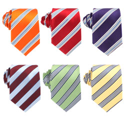 2018 Design Xiuhe Polyester Stripes Mens Neckties for Wholesale