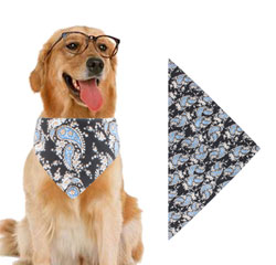 Wholesale Custom Print Logo Cotton Pet Dog Triangle Bandana Scarf