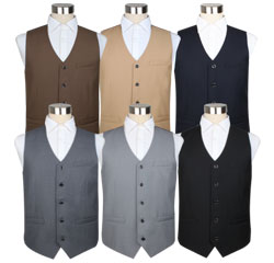 China Suit Accessories U Shaped Men Black TR Vest Custom