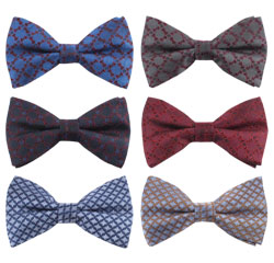 Factory Direct Wholesale Woven Clip Silk Bow Ties for Men