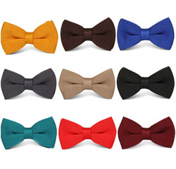 New Style Knitting Plain Pattern Colorful Mens Bow Tie for Wholesale