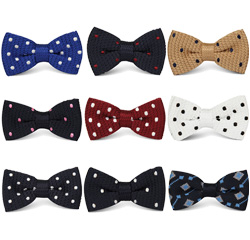 High Quality Cheap Mens Knitting Dot Pattern Bow Tie for Boys