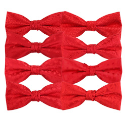 Custom Mens Polyester Cheap Red Wedding Bow Ties for Wholesale