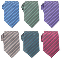 High Quality Cheap Price Men 100% Silk Stripped Stock Neckties Wholesale