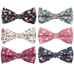 China Supplier Handmade Men's Tuxedo Cotton Red Floral Bow Ties Online