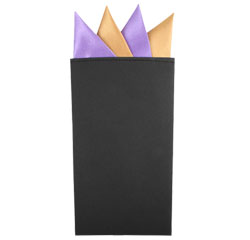 Hot Selling Men's Wedding Polyester Pre Folded Solid Color Gentry Cardboard Pocket Squares