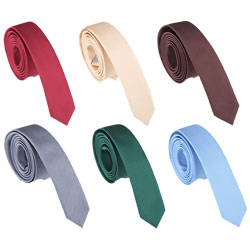 Wholesale 2019 Latest Casual Business Office Plain Neckties Men's Wedding Polyester Ties