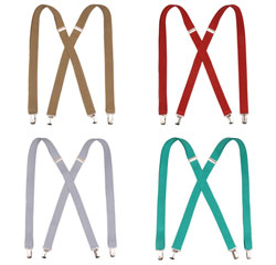 Custom Wholesale Classical Suspenders Adjustable Elastic X Back Mens Braces