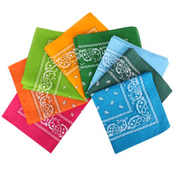 Wholesale Fashion Paisley Pattern Cotton Printed Pocket Square for Gentlemen