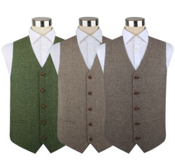 Wholesale Factory Price Mens Designer Woven Waistcoats 100% Wool Vest with Five-Button