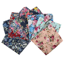 Custom Hot Selling Made Digital Printed Flower Design Organic 100% Cotton Fabric Handkerchiefs