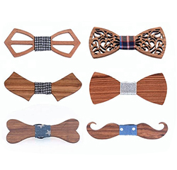 Custom Decorative Funny Gifts Wooden Bow Ties for Men