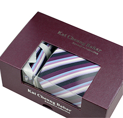 Hot Selling Custom Popular Polyester Mens Tie Cufflink Hanky Logo Gift Box Sets