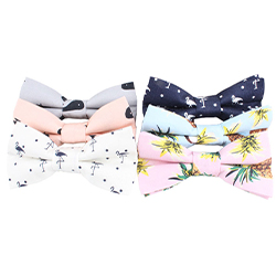 Custom New Cotton Fabric Style Beautiful 100% Cotton Printed Fabric Kids Baby Bow ties