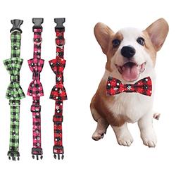 Newest Fashion Pet Accessories Custom Different Design Lovely Polyester Dog Collars Bow Tie