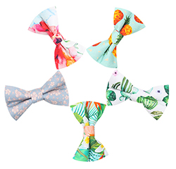 Custom Made Newest Fresh Style 100% Cotton Printed Kids Bow Ties