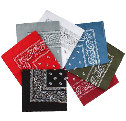 Wholesale Paisley Pattern Handkerchief 100% Cotton Printing Cheap Bandana